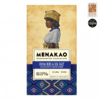 Menakao - Dunkle Schokolade mit Kakaonibs und Meersalz