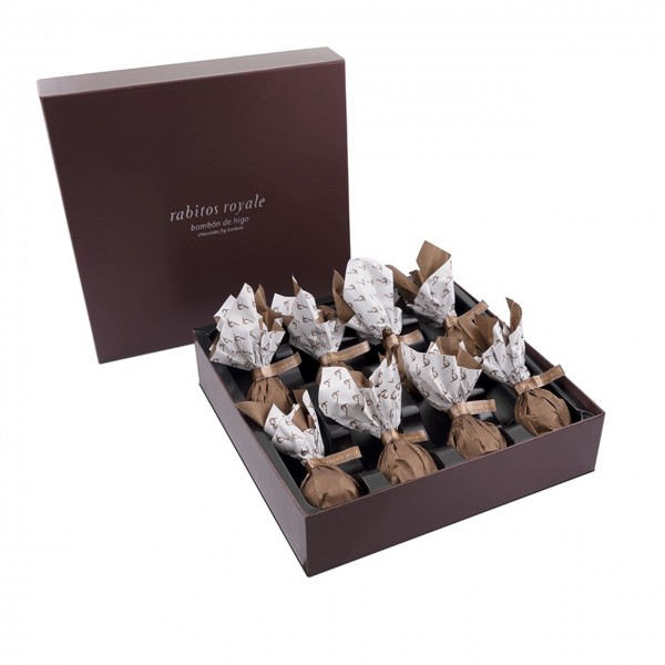 La Higuera - Gefüllte Feigen in Vollmilch-Karamell-Schokolade - 8er Pack