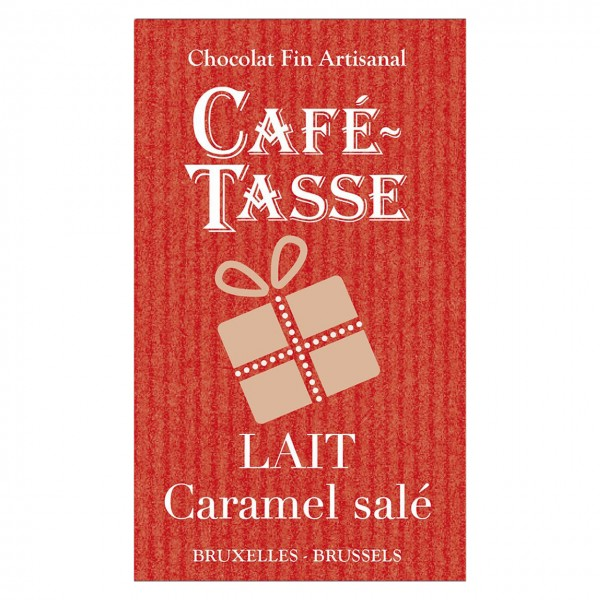 Café-Tasse - Mini-Täfelchen Milch-Schokolade mit Karamell