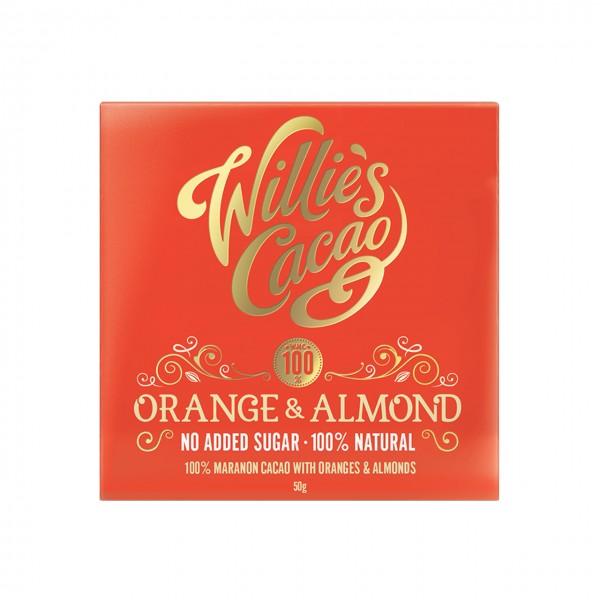 Willie`s Cacao - 100% mit Orange & Mandeln