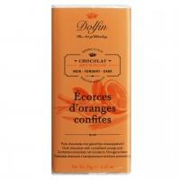 Dolfin - Zartbitterschokolade mit kandierten Orangenschalen