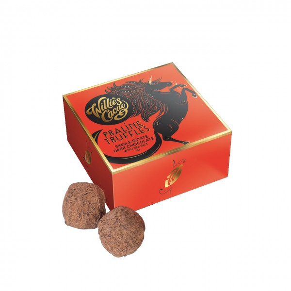 Willie`s Cacao - Dunkle Schokoladentrüffel mit Meersalz