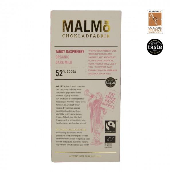 "Malmö - ""Tangy Raspberry"" Dunkle Milchschokolade mit Himbeeren 52%"