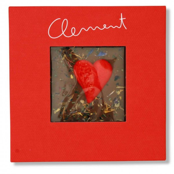 Clement Chococult - Vollmilch Valentinsschokolade mit Herz