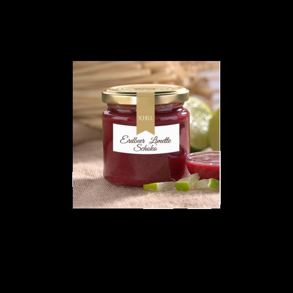 Schell - Schoko-Konfitüre Erdbeere & Limette