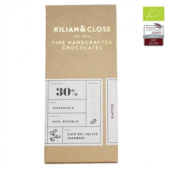 Kilian & Close - Weiße Bio-Schokolade mit Hochlandkaffee aus Peru
