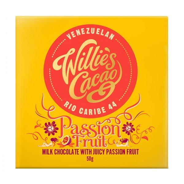 Willie`s Cacao - Milchschokolade mit Passionsfrucht