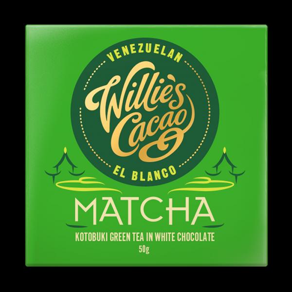 Willie`s Cacao - weiße Schokolade mit Matcha