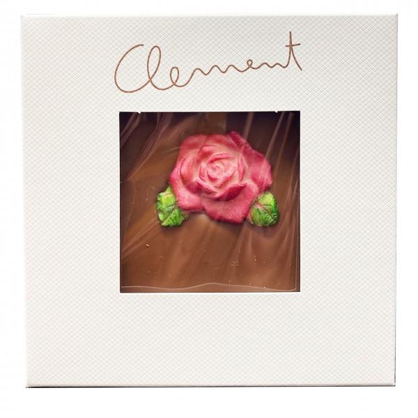 Clement Chococult - Vollmilchschokolade mit Rosenmotiv