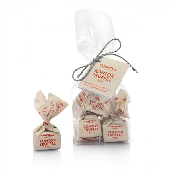 CAMONDAS - 5er Tüte Kontor-Trüffel mit weißer Schokolade und piemonter Haselnüssen