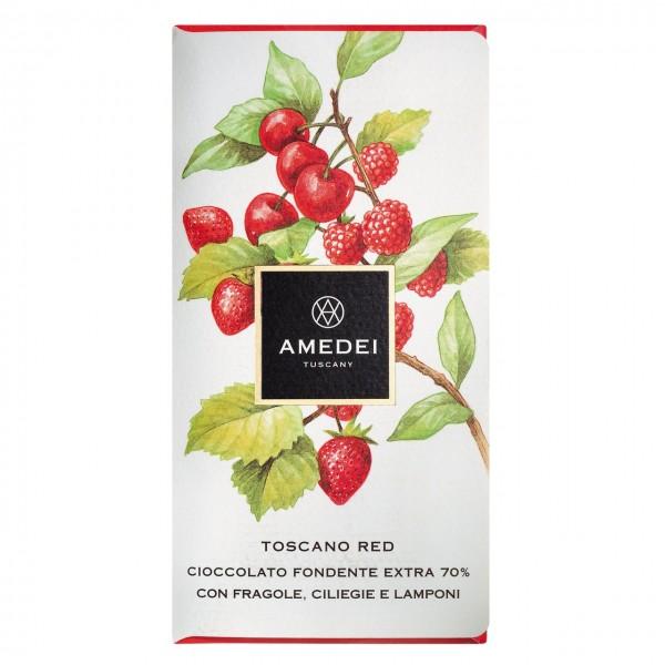 Amedei - Dunkle Schokolade mit roten Früchten