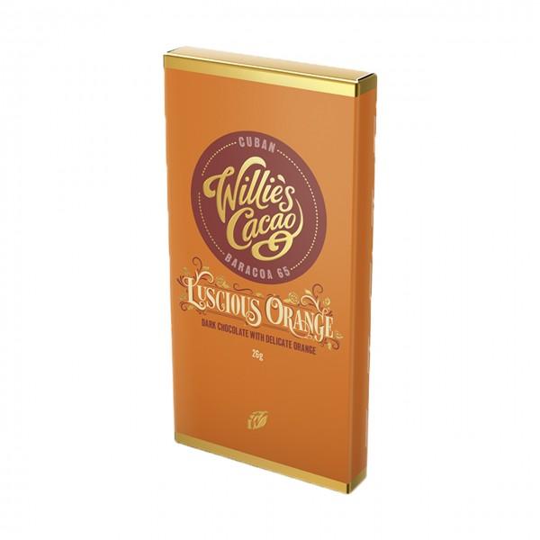 Willie`s Cacao - Dunkle Schokolade mit Orangenöl - Kleintafel