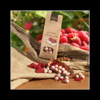 Schell - Himbeermandeln mit weißer Schokolade