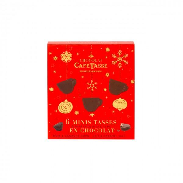 Café-Tasse - Gefüllte Pralinen im Weihnachts-Desisgn