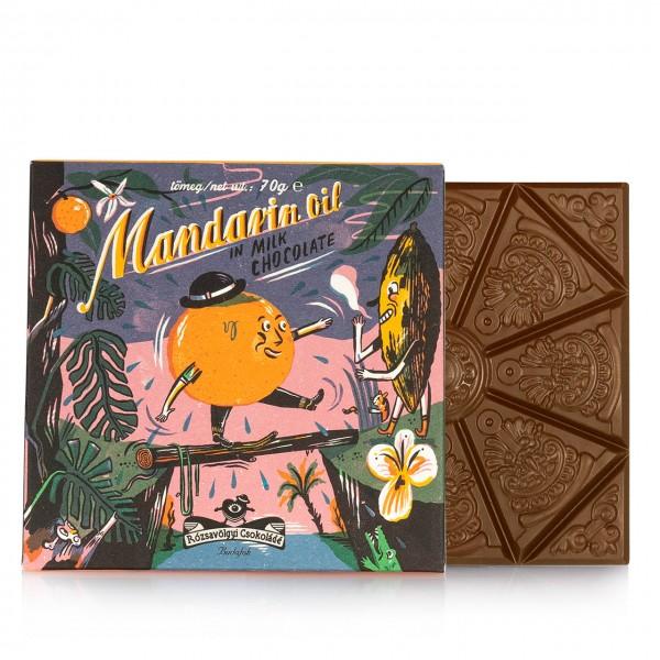Rózsavölgyi - Vollmilch-Tafelschokolade mit Mandarine