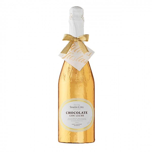 Simon Coll - Champagnerflasche gold, groß