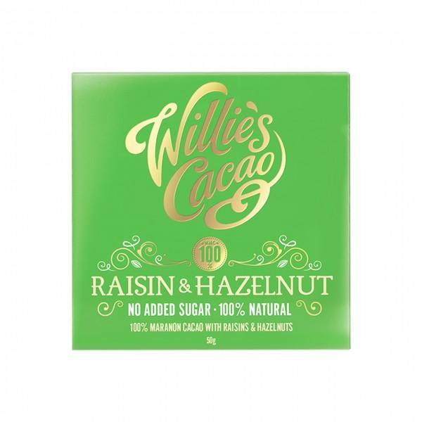 Willie`s Cacao - 100% mit Rosinen & Haselnüssen