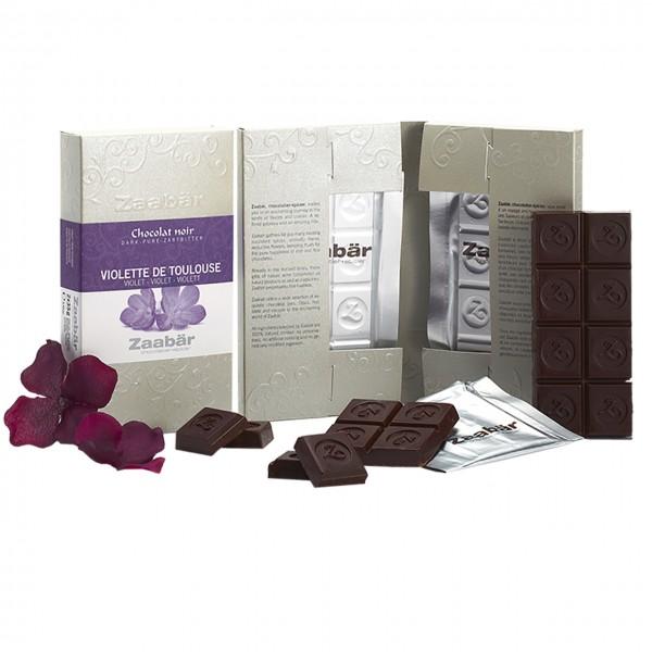 Zaabär - Dunkle Schokolade mit Veilchen aus Toulouse