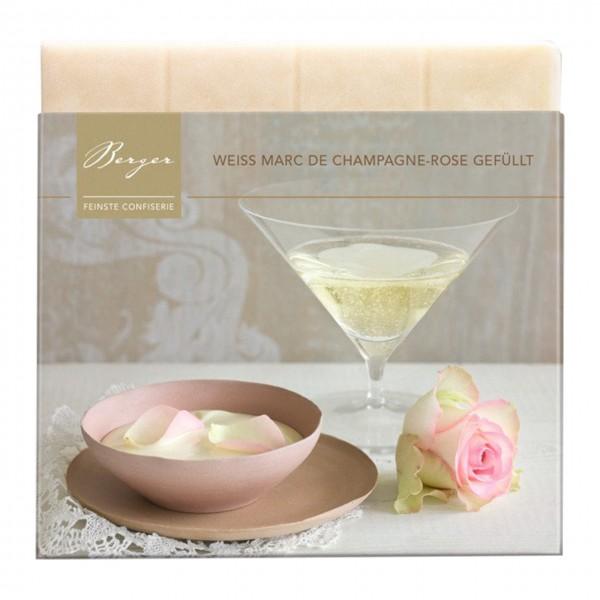 Berger Confiserie - Weiße Schokolade mit Champagner-Rose